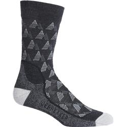Icebreaker Hike+ Crew Socks - Light Cushion - Elevation - Mens-Jet Heather