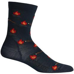 Lifestyle Crew Socks - Ultralight Cushion - Campfires - Womens