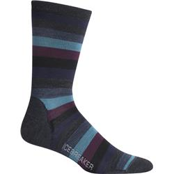 LifeStyle Crew Merino Socks - Ultralight Cushion - Stripe - Mens