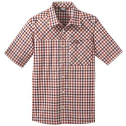 Outdoor Research Discovery SS Shirt - Mens-Burnt Orange Plaid