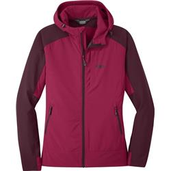 Outdoor Research Ferrosi Hooded Jacket - Womens-Beet / Cacao