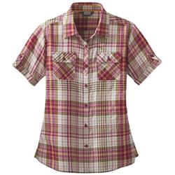 Outdoor Research Melio SS Shirt - Womens-Sangria Large Plaid