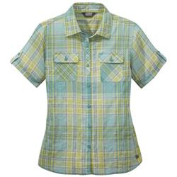 Outdoor Research Melio SS Shirt - Womens-Seaglass Large Plaid