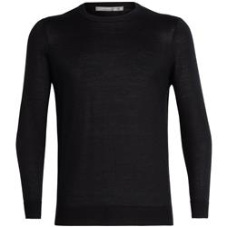 Icebreaker Quailburn Crewe Sweater - Mens-Black
