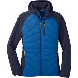 Outdoor Research Refuge Hybrid Hooded Jacket - Womens-Lapis / Naval Blue