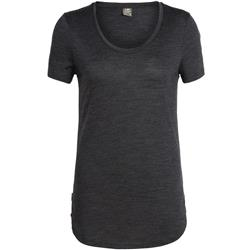 Icebreaker Solace SS Scoop - Womens-Black Heather