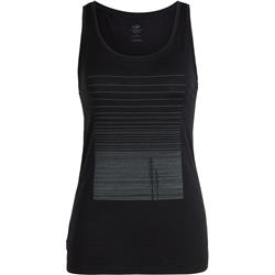 Icebreaker Tech Lite Tank Woods - Womens-Black