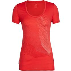 Icebreaker Tech Lite SS Scoop Plume - Womens-Ember