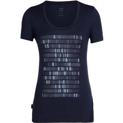 Icebreaker Tech Lite SS Scoop Sequence - Womens-Midnight Navy