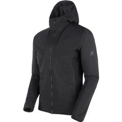 Mammut Rime Light IN Flex Hooded Jacket - Mens-Black