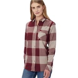 tentree Kimberly LS Button Up - Womens -Burgundy Plaid