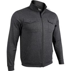 2Undr 2 Pocket Zip Jacket - Mens-Black / Grey