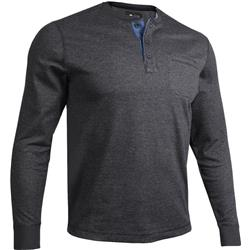 2Undr Pocket Henley LS Pullover - Mens-Black / Grey