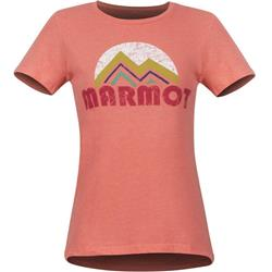Marmot Pt Reyes Tee SS - Womens-Flamingo Heather