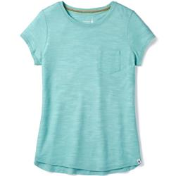 Smartwool Everyday Exploration Slub SS Tee - Womens-Nile Blue