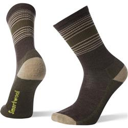 Smartwool Hike Striped Light Crew Socks - Mens-Chestnut