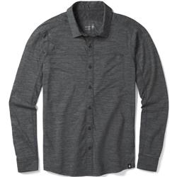 Smartwool Merino Sport 150 LS Button Down - Mens-Medium Gray Heather
