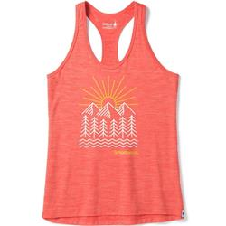 Smartwool Merino Sport 150 Mountain Morning Tank - Womens-Light Habanero Heather