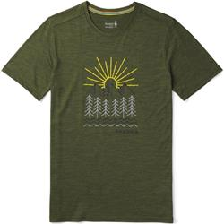 Smartwool Merino Sport 150 Mountain Morning Tee - Mens-Moss Green Heather