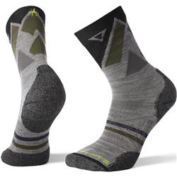 Smartwool PhD Outdoor Light Pattern Crew Socks - Unisex-Light Gray