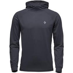 Black Diamond Ls Alpenglow Hoody - Mens-Black