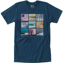 Hippy Tree Gridpoint Tee - Mens-Navy