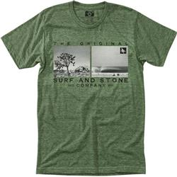 Hippy Tree Outlier Tee - Mens-Heather Army