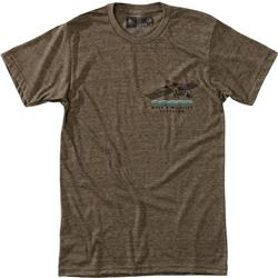 Hippy Tree Wingtip Tee - Mens-Heather Brown