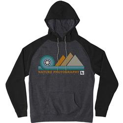 Hippy Tree Aperture Hoody - Mens-Heather Charcoal