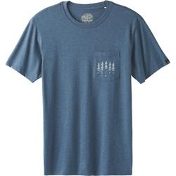 Prana Hollis Pocket T-Shirt - Mens-Denim Heather