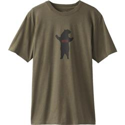 Prana Bear Hug Journeyman T-Shirt - Mens-Cargo Green Heather
