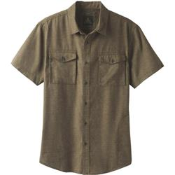 Prana Merger SS Shirt - Mens-Cargo Green