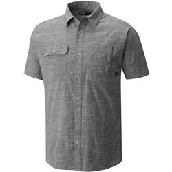 Mountain Hardwear Outpost SS Shirt - Mens-Stealth Grey