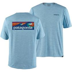 Patagonia Capilene Cool Daily Graphic Shirt - Mens-Cosmic Peaks / Atoll Blue