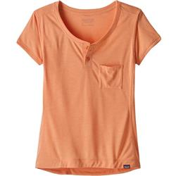 Patagonia Capilene Cool Trail Bike Henley - Womens-Peach Sherbet