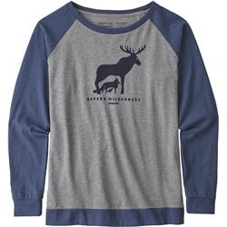 Patagonia Defend Wilderness Responsibili-Tee LS - Womens-Gravel Heather
