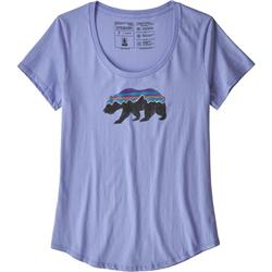Patagonia Fitz Roy Bear Organic Scoop T-Shirt - Womens-Light Violet Blue