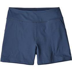 "Patagonia Happy Hike Shorts, 4"" Inseam - Womens-Stone Blue"