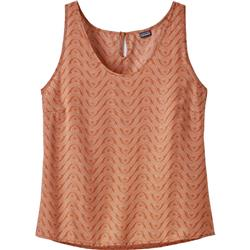 Patagonia June Lake Tank - Womens-Bluff River / Sunset Orange