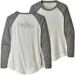 Patagonia Tropic Comfort Crew - Womens-Landscape Trout / White