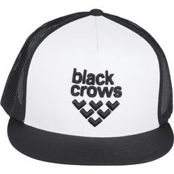 Black Crows Mesh Trucker Cap-Black / White