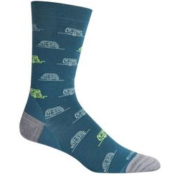 Icebreaker LifeStyle Crew Socks - Fine Gauge Ultralight Cushion - Campers - Unisex-Poseidon / Hydro / Shock