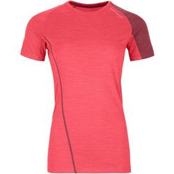 Ortovox 120 Cool Tec Fast Forward T-Shirt - Womens-Hot Coral Blend