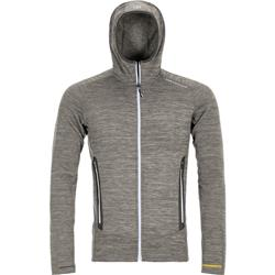 Ortovox Fleece Light Melange Hoody - Mens-Grey Blend
