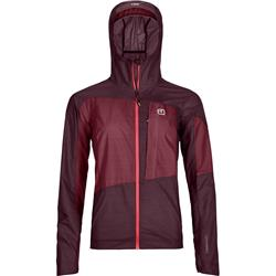 Ortovox Merino Windbreaker - Womens-Dark Wine