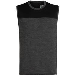 Icebreaker Kinetica Tank - Mens-Black Heather / Black