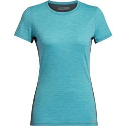 Icebreaker Amplify SS Low Crewe - Womens-Arctic Teal Heather / Nightfall Heather