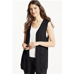 Fig Clothing Lax Cardigan - Womens-Black