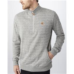 tentree Durango 1/2 zip - Mens-Moonstruck Grey