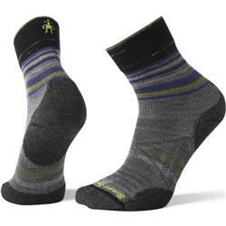 Smartwool PhD Outdoor Light Pattern Mid Crew Socks - Unisex-Medium Gray